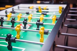 Table soccer or football kicker game, entertainment