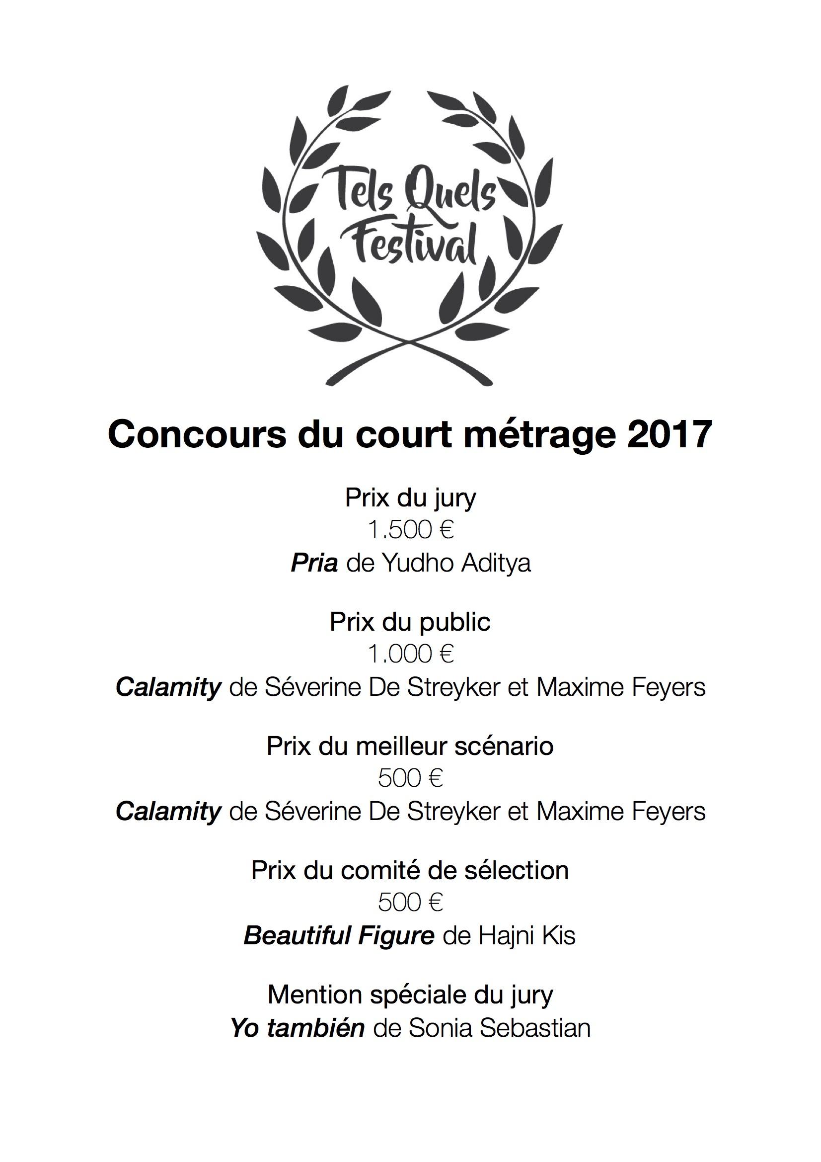 TQF2017-prix courts